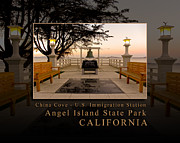 China Cove Prints - China Cove - USIS - United States Immigration Station Angel Island State Park California Print by David Rigg