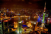 Multi Colored Photos - China Shanghai At Night  by Anonymous