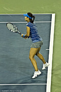 Wta Tennis Framed Prints - China Tennis Star Li Na Framed Print by Rexford L Powell