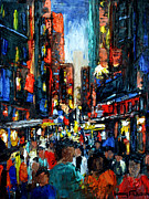Greens Framed Prints Metal Prints - China Town Metal Print by Anthony Falbo