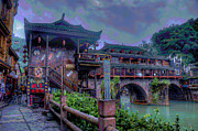 Grey Digital Art Originals - China Town by Byron Fli Walker