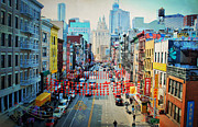 China Town Photo Metal Prints - China Town Glory Metal Print by Emily Stauring
