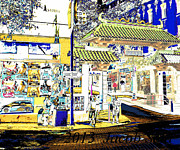 China Pyrography Framed Prints - China Town Framed Print by Jacob Sela
