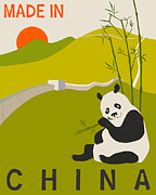 Chinese Digital Art - China Travel Poster by Jazzberry Blue