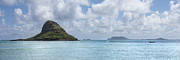 China Beach Prints - Chinamans Hat Panorama - Oahu Hawaii Print by Brian Harig