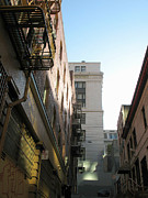 Intrigue Prints - Chinatown Alley in San Francisco Print by Connie Fox