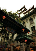 Chinese Lanterns Prints - Chinatown Entrance Print by Michelle Calkins