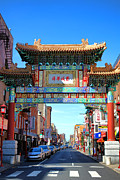 Pennsylvania Framed Prints - Chinatown Friendship Gate Framed Print by Olivier Le Queinec