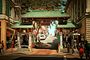 Wingsdomain Art and Photography - Chinatown Gate on Grant Avenue in San Francisco 7D7193brun