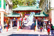Wingsdomain Art and Photography - Chinatown Gate on Grant Avenue in San Francisco 7D7193wcstyle