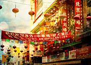 Asian Culture Prints - Chinatown in The Sun Print by Sonja Quintero