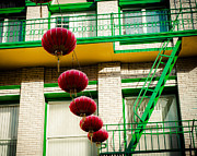 Red And Green Photo Posters - Chinatown San Fran Lanterns Poster by Sonja Quintero
