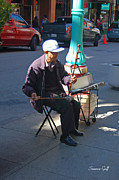 Chinese Musician Prints - Chinatown San Francisco - Traditional Street Music Print by Suzanne Gaff