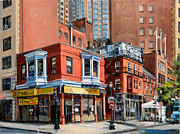 Old Buildings Paintings - Chinatown View by Deb Putnam