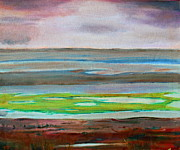 Tidal Basin Paintings - Chincoteague by Rosemarie Hakim