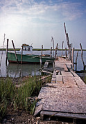 Wildlife And Nature Photos Art - Chincoteague Work Boat by Skip Willits