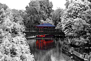 Stock Photo Digital Art - Chinese Architecture in Regents Park by Maj Seda