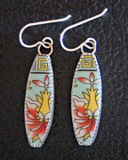 Mexico Jewelry - Chinese Bowl Earrings by Robert Redus