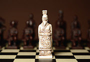 Chess Piece Posters - Chinese Chess King Poster by Dick Wood