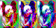 Pups Digital Art - Chinese Crested Dog Three 20130125 by Wingsdomain Art and Photography