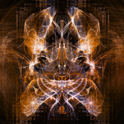 Zodiac Digital Art - Chinese Dragon - Chromatic Lightburst by Ifourdezign
