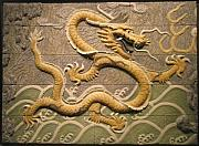 Mosaic Reliefs - Chinese dragon.  by Jose Manuel Solares