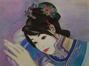 Horizontal Pastels Posters - Chinese Dream Poster by Serran Dalmak