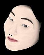 Chinese Girl Print by Sara Ponte