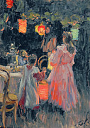 Feast Paintings - Chinese Lanterns by Ivan Semyonovich Kulikov