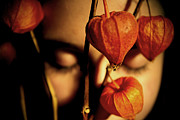 Golden Eyes Originals - Chinese Lanterns with Eyes Closed by Gloria De los Santos