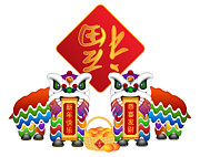JPLDesigns - Chinese Lion Dance Pair...