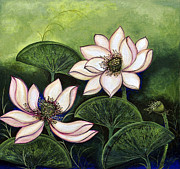 Sucheta Misra - Chinese lotus with gold...