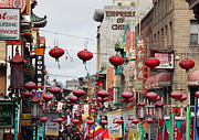 China Town Photo Metal Prints - Chinese New Year Metal Print by Kathy Yates