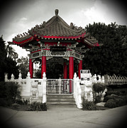 Gazebo Wall Art Prints - Chinese Pavilion  Print by Tawnya Apuan