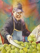 - Occupy Beijing Paintings - Chinese pear seller by Alfred Ng