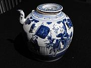 Antique Ceramics - Chinese porcelain teapot featuring Xi Wang Mu riding unicorn by Master Chinese porcelain maker
