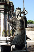 Chinese Photo Prints - Chinese Statue Guards - Wat Pho - Bangkok Thailand - 01133 Print by DC Photographer