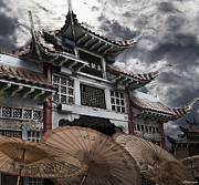 Chinese Temple Gate Print by Larry Butterworth