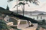 Chinese Tomb With Two Mourners Print by Thomas & William Daniell