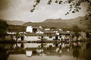 White River Scene Framed Prints - Chinese village Framed Print by Fototrav Print
