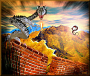 Sightseeing Digital Art Originals - Chinese Wall by Daniel Janda