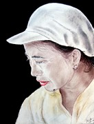 Beauty Mark Mixed Media - Chinese Woman with a Facial Mole by Jim Fitzpatrick