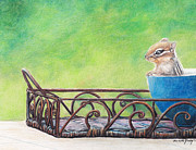 Charlotte Yealey - Chipmunk in Blue Bowl