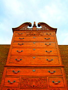 Drawers Prints - Chippendale Chest Of Drawers Print by Randall Weidner