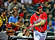 Chipper Prints - Chipper Jones Canvas Print by Florian Rodarte