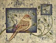 Chipping Sparrow Posters - Chipping Sparrow Poster by Catherine Henningham Puttick