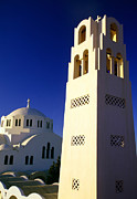Religious Building Framed Prints - Chiricos World Framed Print by Aiolos Greek Collections