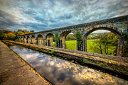Mountain Valley Posters - Chirk Aqueduct 1801 Poster by Adrian Evans