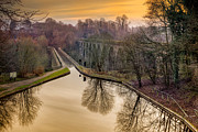 Thomas Digital Art Metal Prints - Chirk Aqueduct Metal Print by Adrian Evans