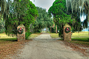Palmetto Trees Prints - Chisolm Island Brick Pillars Print by Scott Hansen
